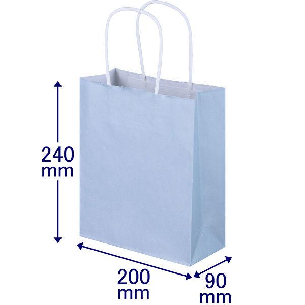 丸紐 手提げ紙袋 水色 SS 50枚