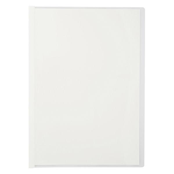 アスクル レール式クリアーホルダー A4タテ 20枚とじ ホワイト 30冊