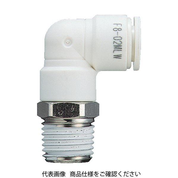 千代田通商 チヨダ ファイブメイルエルボ W(白)4mm・R1/8 F4-01MLW 1個 158-4715 (直送品)