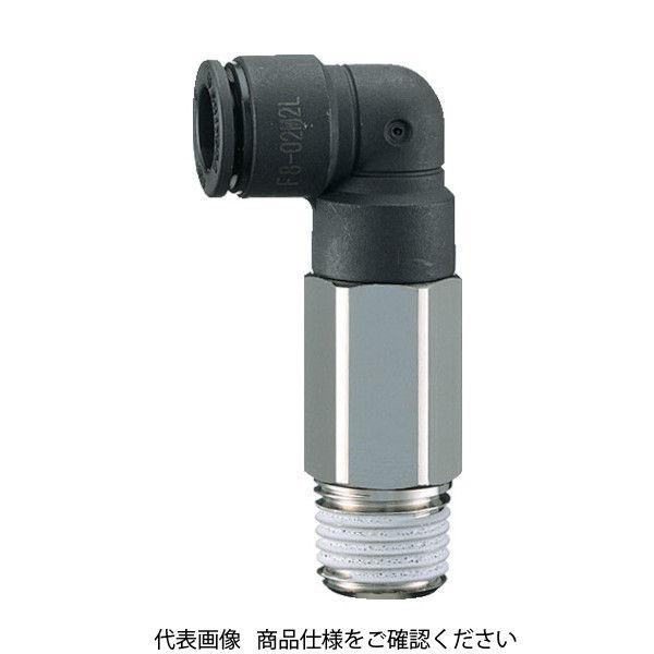 千代田通商 チヨダ ファイブロングメイルエルボ 6mm・R1/4 F6-02M2L 1個 158-5053 (直送品)