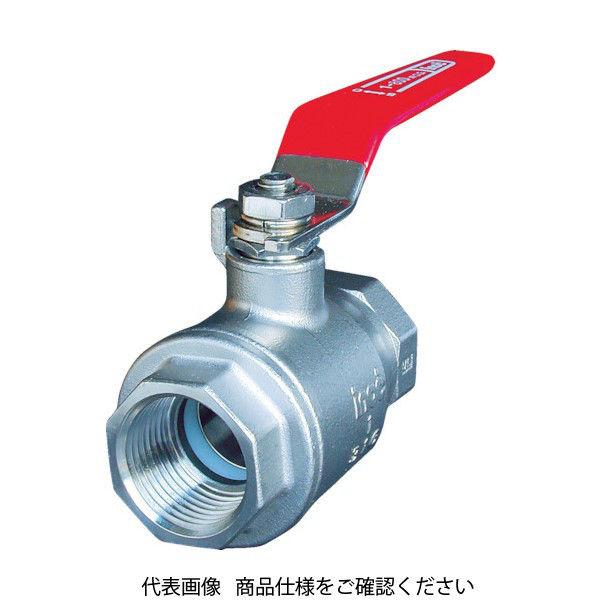 イノック(INOC) イノック ねじ込みボールバルブ 全長124mm 呼び径(A)50 316SFVM50A 1個 175-4823 (直送品)