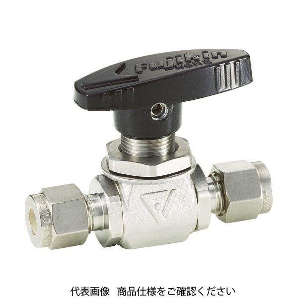 フジキン(Fujikin) フジキン ステンレス鋼製4.90MPaパネルマウント式ボール弁 PUBV-95-12.7 1個 365-5296 (直送品)