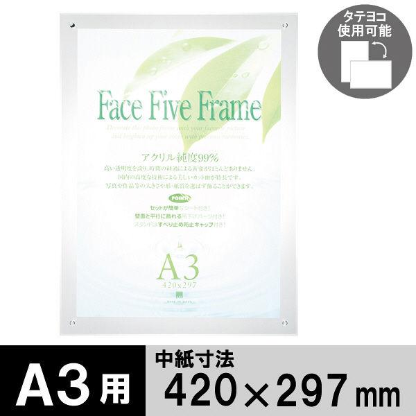 アートプリントジャパン フェイスファイブフレーム A3(外寸:470×347mm) クリア
