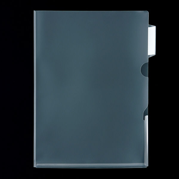 アスクル クリアホルダー インデックス&マチ付 1箱(100枚)
