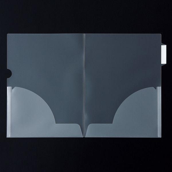 アスクル クリアホルダー 2つ折 サイドインデックス付 1箱(100冊)