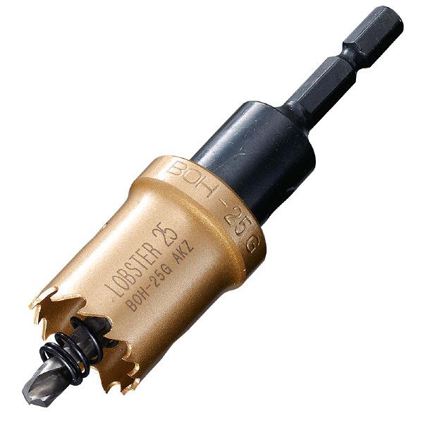 ロブテックス エビ バイメタルホルソー 25mm 六角軸 BOH25G 1本 335ー4598 (直送品)