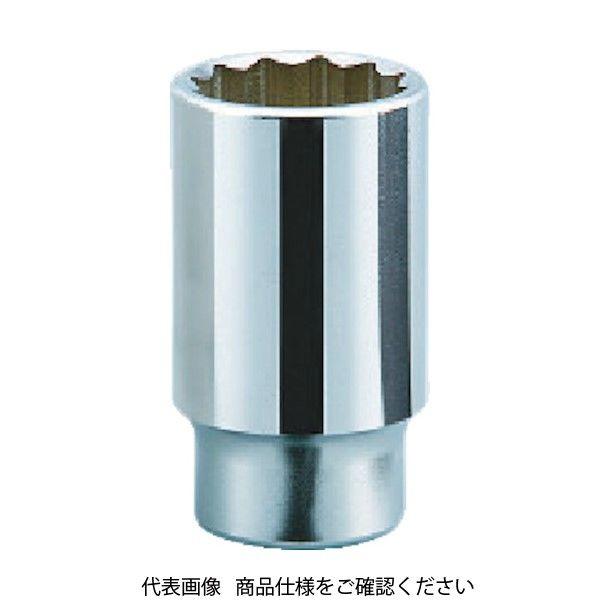 京都機械工具 KTC 19.0sq.ディープソケット(十二角) 28mm B45-28 1個 383-4255(直送品)