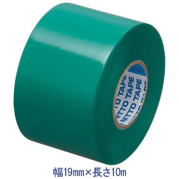 ビニルテープS 19MM幅×長さ10M 緑 J2573 ニトムズ