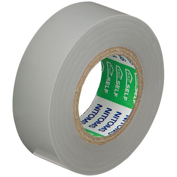 ニトムズ ビニルテープS 灰 19mm×10m巻 J2576 1箱(10巻入)