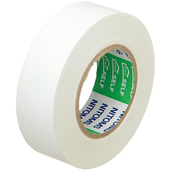 ビニルテープS19MM幅×長さ10M白 J2575 1箱(10巻入) ニトムズ