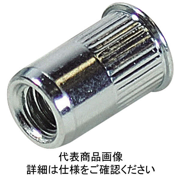 ロブテックス エビ ローレットナット(1000本入) Kタイプ スティール 8ー3.2 NSK8MR  372ー5090 (直送品)
