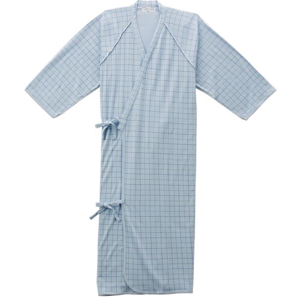ケアねまき(メリヤスタイプ) サックスL 5075 日本エンゼル (直送品)