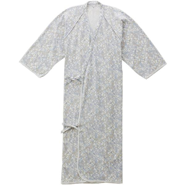 ケアねまき(メリヤスタイプ) ペイズリーブルーL 5075 日本エンゼル (直送品)