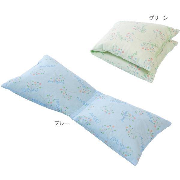 通気ビーズフリークッションII(台形タイプ小) ブルー 1635 日本エンゼル (直送品)