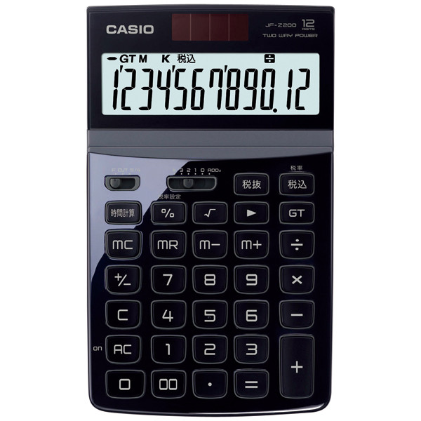 カシオ計算機 デザイン電卓 JF-Z200 ブラック