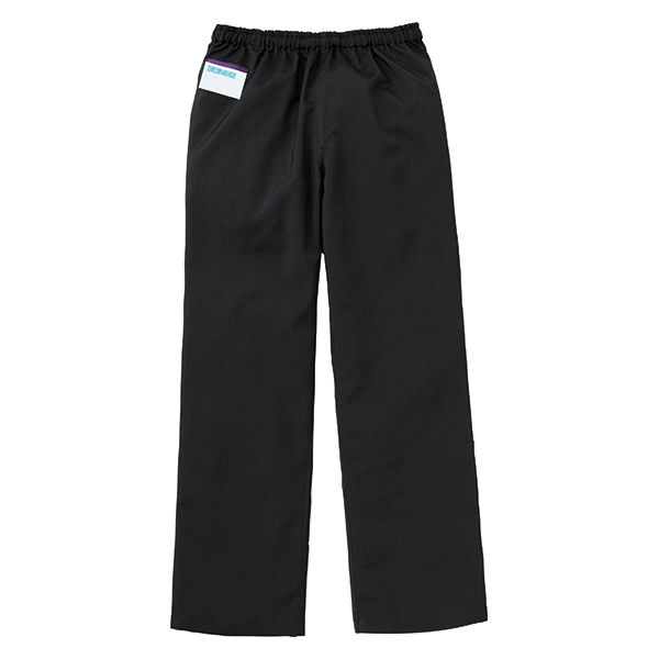 KAZEN カラーパンツ(男女兼用) スクラブパンツ 医療白衣 ブラック 3L 155-99 (直送品)