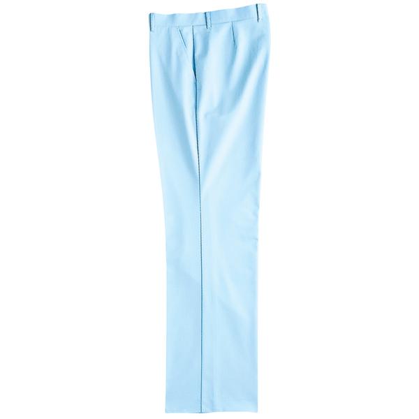 KAZEN メンズスラックス サックスブルー(水色) 120cm 259-11 (直送品)