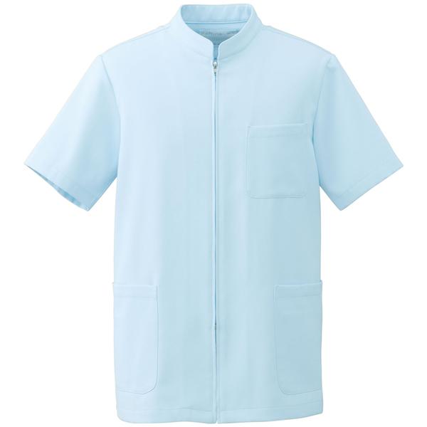 オンワード 白衣 BR-4002 メンズジップアップジャケットサックスブルーBL 1枚 (取寄品)