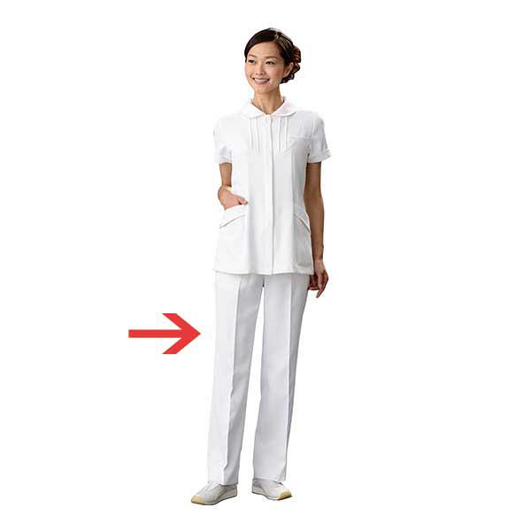 オンワード 白衣 PO-2011 レディスパンツホワイト L 1枚 (取寄品)
