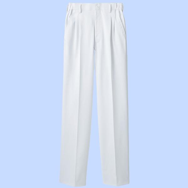 住商モンブラン メンズパンツ 医療白衣 ホワイト S 72-1141 (直送品)