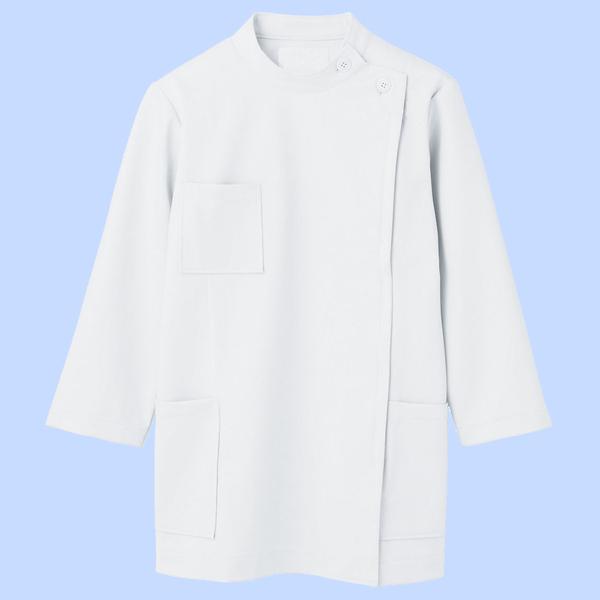 住商モンブラン ケーシー(レディス・8分袖) ナースジャケット 医務衣 医療白衣 白 M 72-201 (直送品)