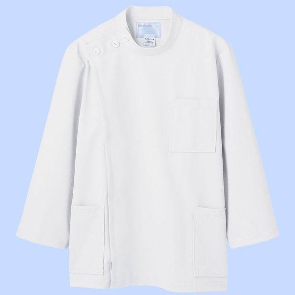 メンズケーシー(8分袖 医務衣) 72-701 ホワイト L (直送品)