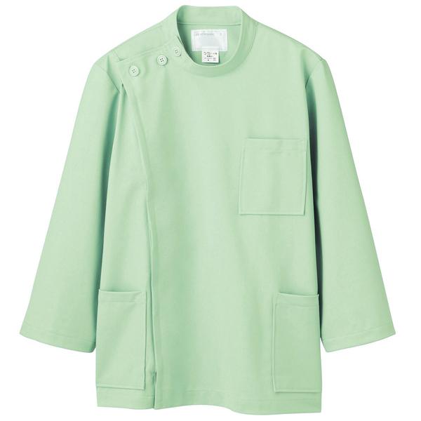 住商モンブラン メンズケーシー(8分袖 医務衣) グリーン 3L 72-707 (直送品)