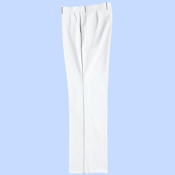 KAZEN メンズスラックス オフホワイト 76cm 259-10 (直送品)
