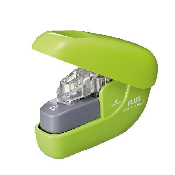 針なしホッチキス ペーパークリンチ 緑