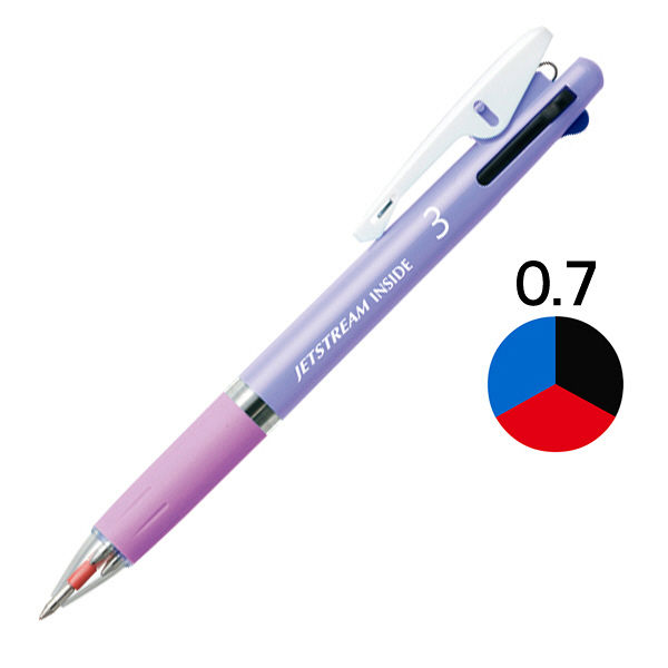 ジェットストリーム3色ボール 0.7 紫