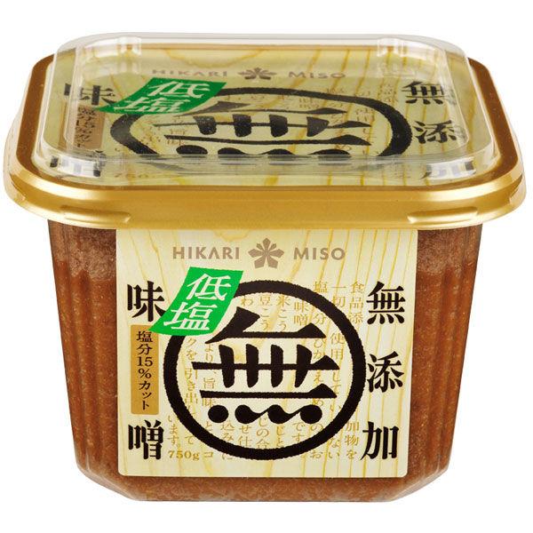 ひかり味噌 無添加味噌 低塩 750g