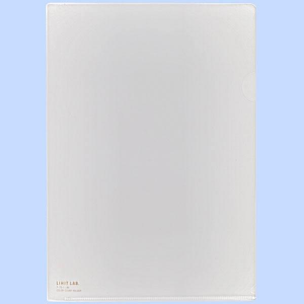 リヒトラブ カラークリヤーホルダー 乳白 A4タテ F78-1