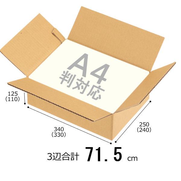無地ダンボールA4×125mm10枚