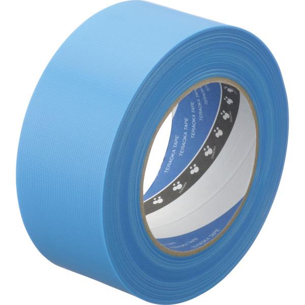 寺岡製作所 P-カットテープ 4140 強粘着 青 幅50mm×50m巻