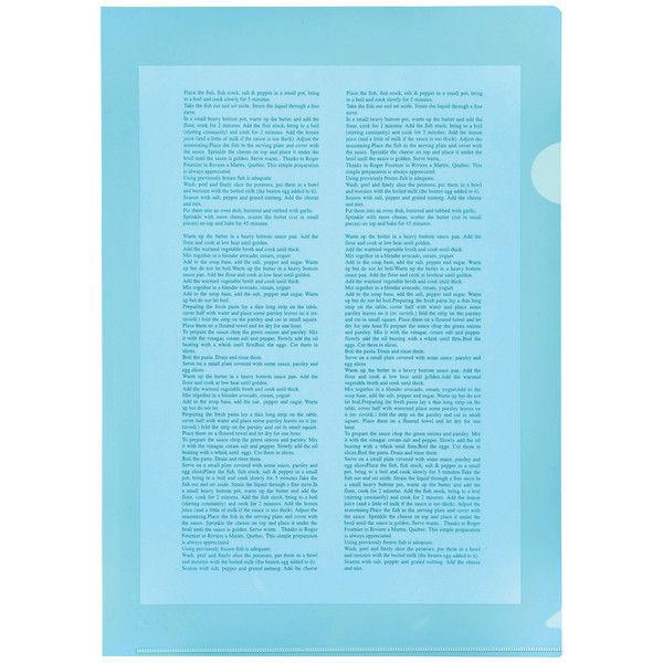 プラス カラークリアホルダー A4 1箱(600枚) ブルー