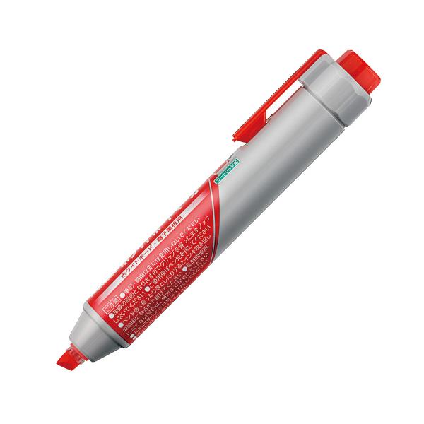 ぺんてる ノック式 ハンディホワイトボードマーカー 太字・平芯 赤 MWXN6M-B 1セット(5本:1本×5)