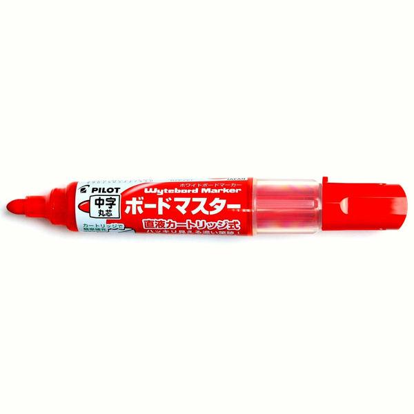 パイロット ホワイトボードマーカー ボードマスター 中字丸芯 赤 WMBM-12L 5本