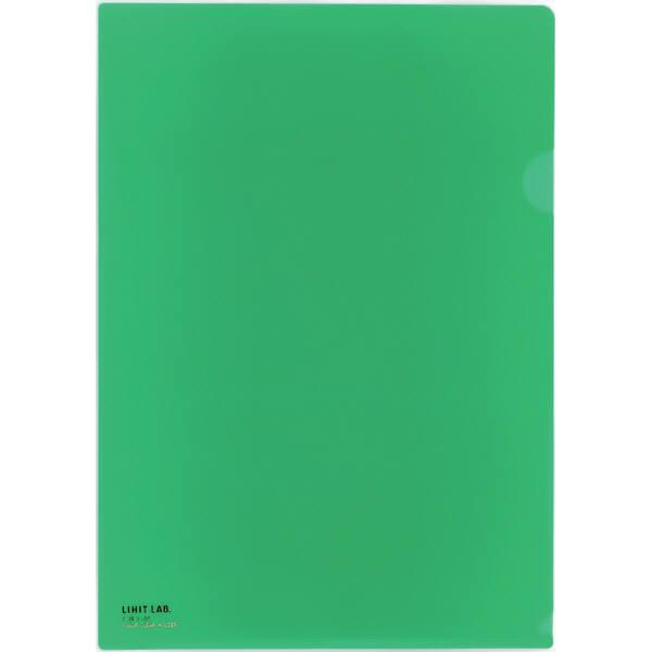 リヒトラブ カラークリヤーホルダー 緑 A4タテ F78-7
