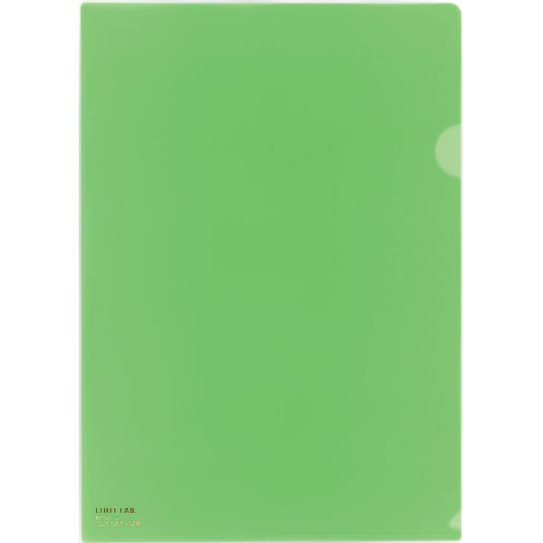 リヒトラブ カラークリヤーホルダー 黄緑 A4タテ F78-6