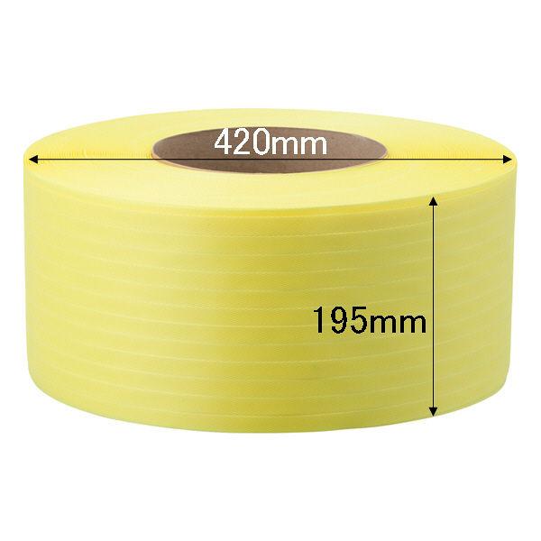 PPバンド梱包機15.5mm2500m黄