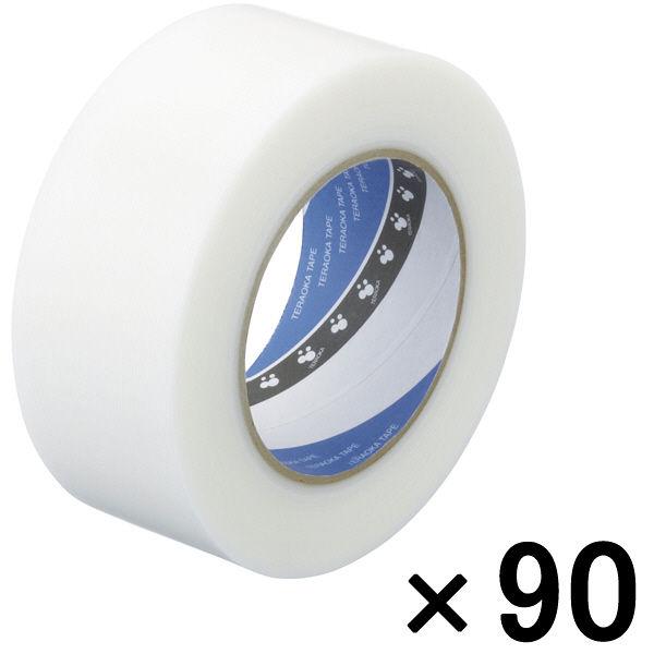 寺岡製作所 P-カットテープ 4140 強粘着 半透明 幅50mm×50m巻 1セット(90巻:30巻入×3箱)