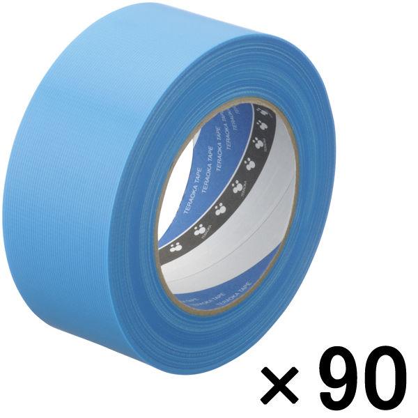 寺岡製作所 P-カットテープ 4140 強粘着 青 幅50mm×50m巻 1セット(90巻:30巻入×3箱)