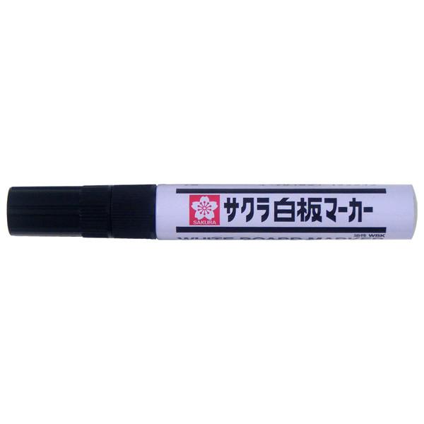 サクラクレパス 白板マーカー中字エコフィール 黒 WBKE# 1セット(5本:1本×5)
