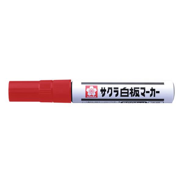 サクラクレパス 白板マーカー中字エコフィール 赤 WBKE# 1セット(5本:1本×5)