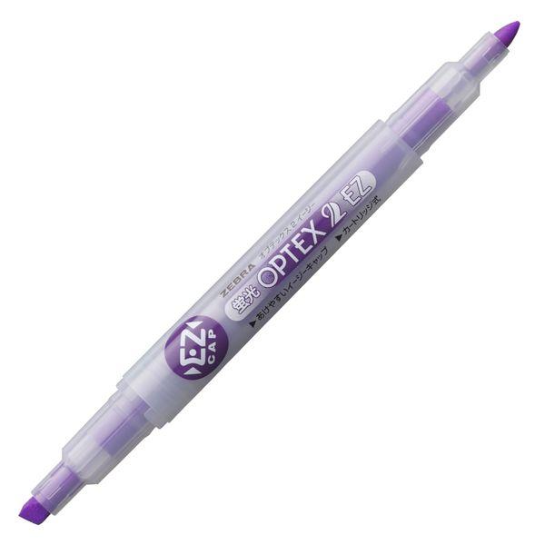 ゼブラ 蛍光オプテックス2EZ 紫 WKT11-PU 1箱(10本入)