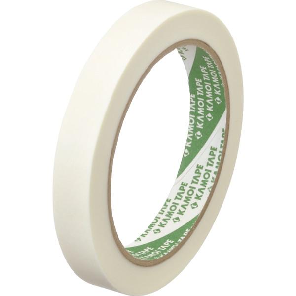 カモ井加工紙 軽包装用 和紙粘着テープ 白 15mm×36m巻 220WAL24 1セット(20巻:4巻入×5パック)