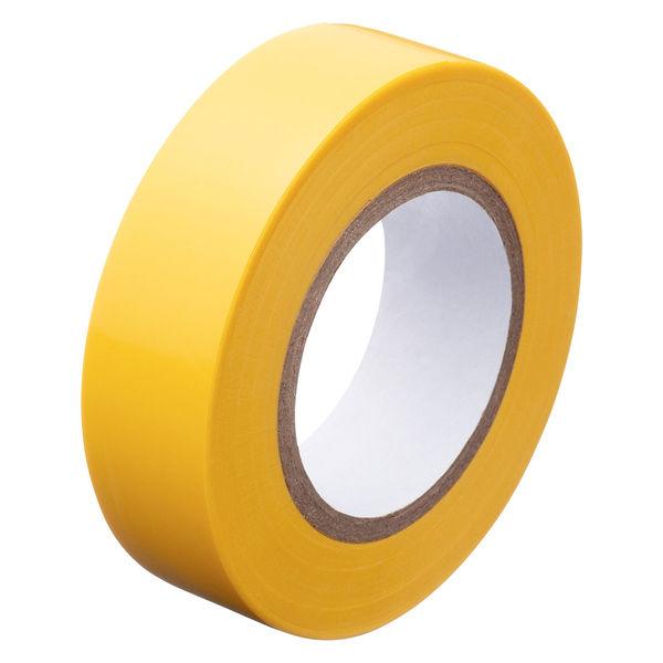 アスクル「現場のチカラ」 ビニールテープ 黄 19mm×10m巻 1セット(30巻:10巻入×3箱)