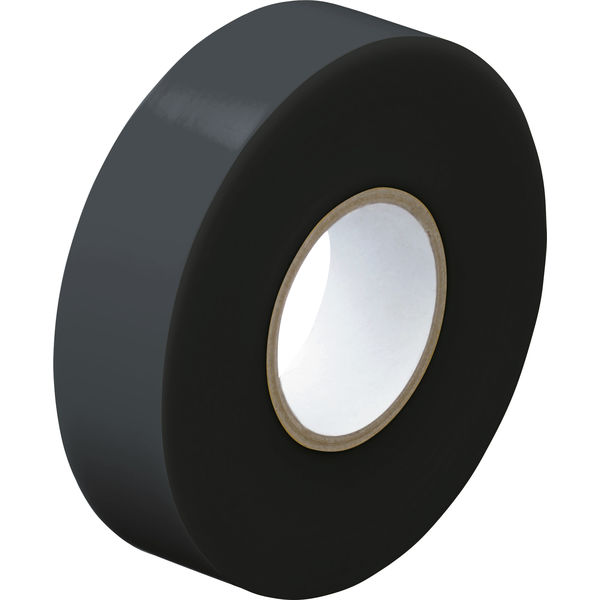 アスクル「現場のチカラ」 ビニールテープ 黒 19mm×20m巻 1セット(30巻:10巻入×3箱)