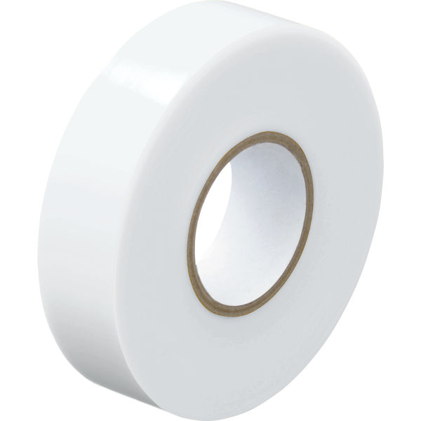 アスクル「現場のチカラ」 ビニールテープ 白 19mm×20m巻 1箱(10巻入)