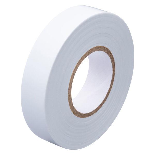 アスクル「現場のチカラ」 ビニールテープ 白 19mm×20m巻 1セット(30巻:10巻入×3箱)